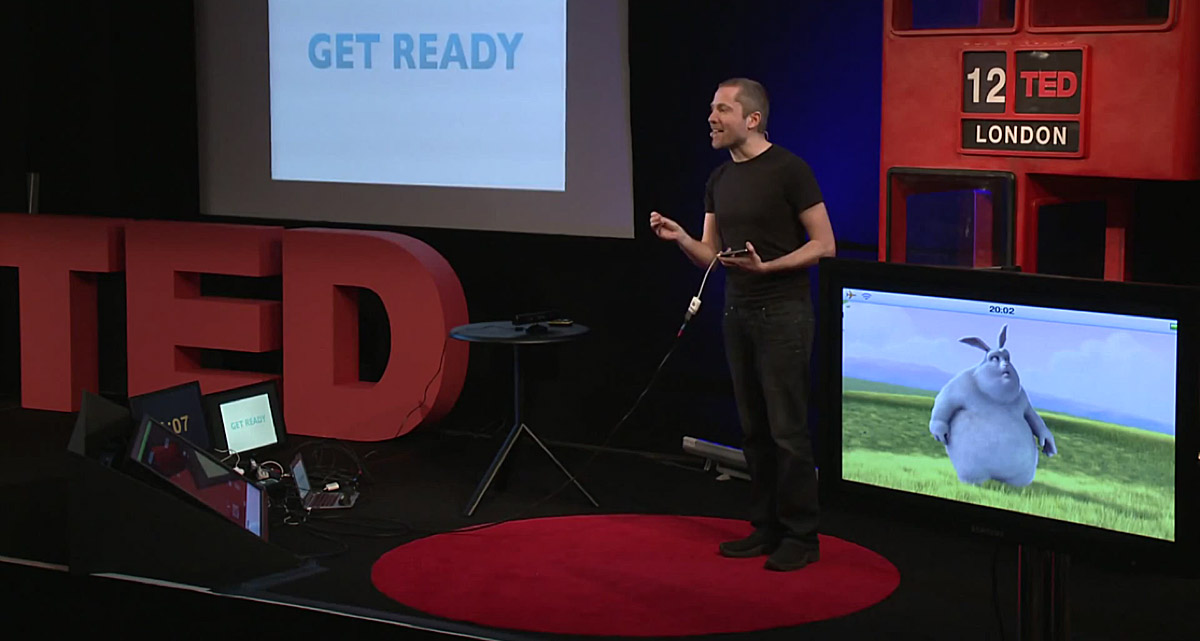 Aral Balkan presenting at TED@London on April 2012.