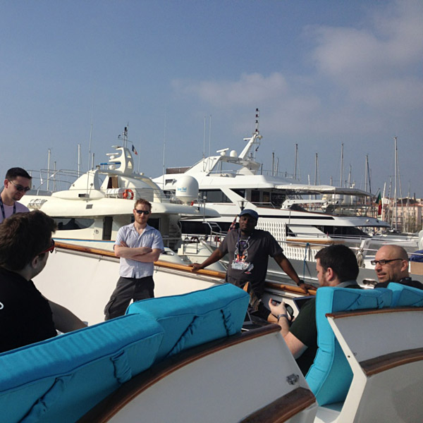 Hackers on a boat in Cannes
